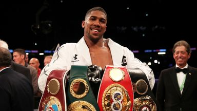 Anthony Joshua is one belt away from becoming the undisputed champion