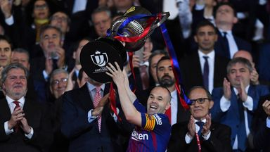 fifa live scores -                               Valverde hails Iniesta after Copa win