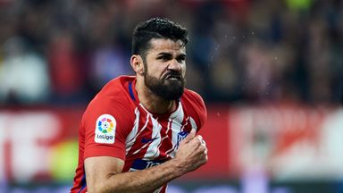 fifa live scores - Diego Costa injured in Atletico Madrid's Europa League clash at Sporting