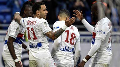 Memphis Depay scored as Lyon beat Amiens