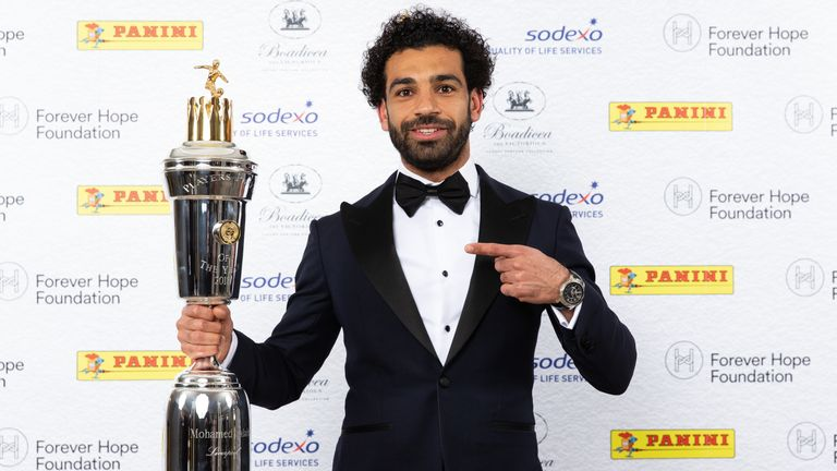 Liverpool forward Mo Salah has been named PFA Player of the Year
