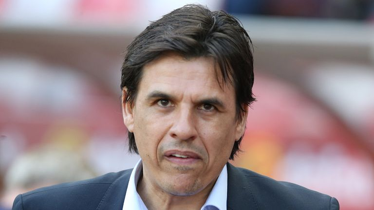 Chris Coleman during the Sky Bet Championship match between Sunderland and Burton Albion at Stadium of Light on April 21, 2018