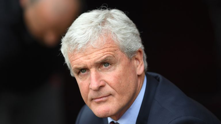 Mark Hughes during the Premier League match between Southampton and Bournemouth at St Mary's Stadium on April 28, 2018