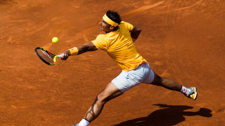 Rafael Nadal booked his place in the last eight with another straight sets winning, dropping just four games