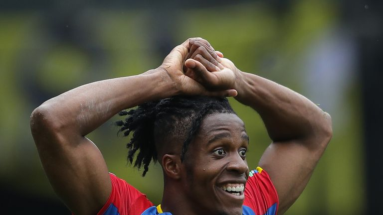 Crystal Palace forward Wilfried Zaha saw two penalty claims turned down against Watford