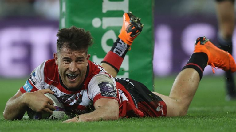 Mark Atkinson scored a quite sensational counter-attacking try for Gloucester in the first half