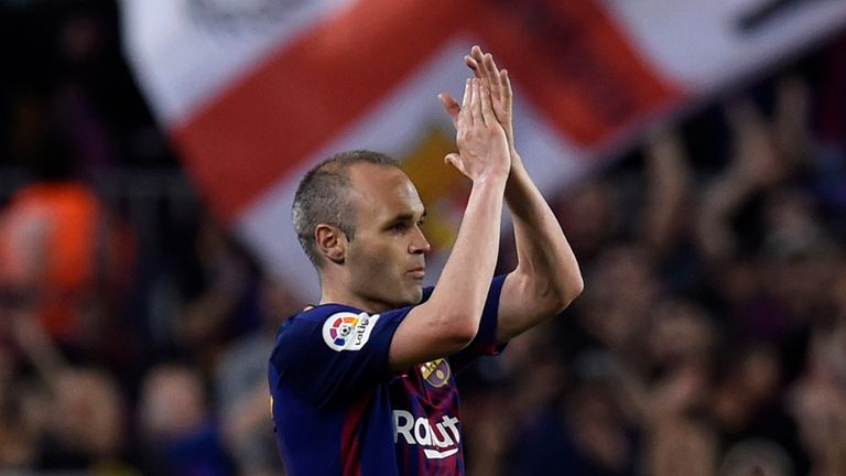 Iniesta has made the second-most appearances in Barcelona's history