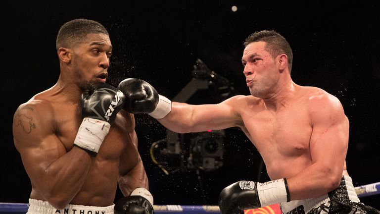 Anthony Joshua defeated Parker in their unification clash in Cardiff