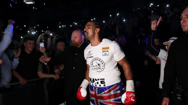 David Haye's  familiar ringwalk could be his last