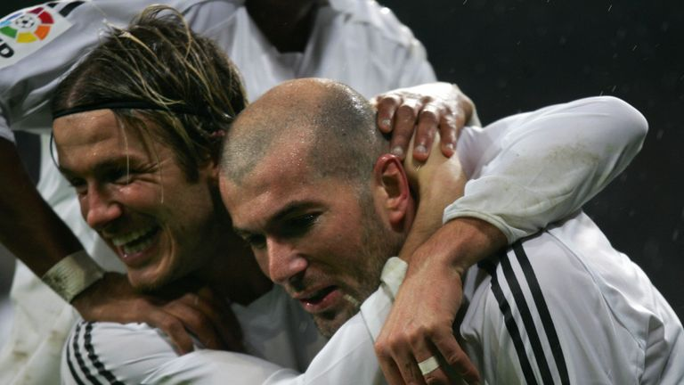 Beckham won the La Liga once when at Madrid
