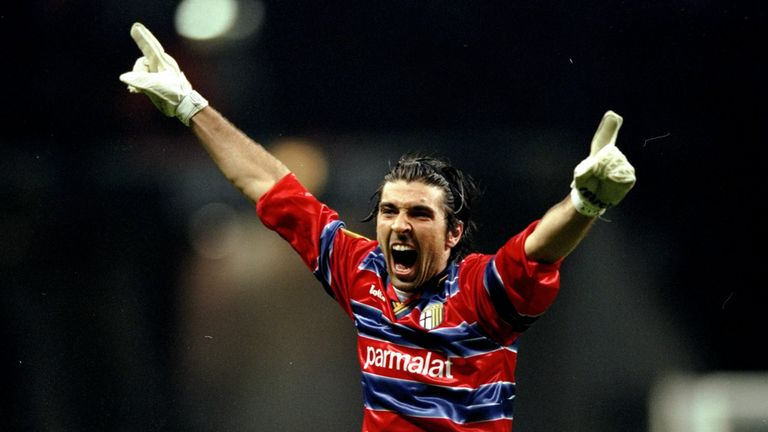 Gianluigi Buffon helped Parma to UEFA Cup glory in 1999