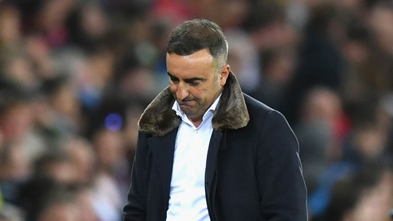 Carlos Carvalhal's tenure as Swansea manager looks to be over