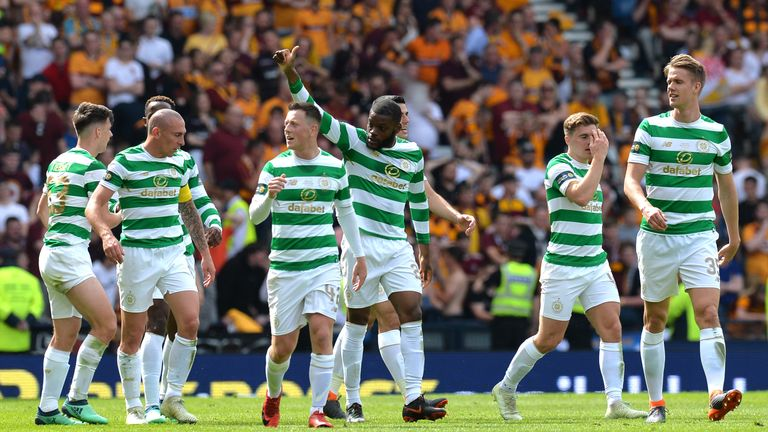 Celtic become the first Scottish side to secure the double treble
