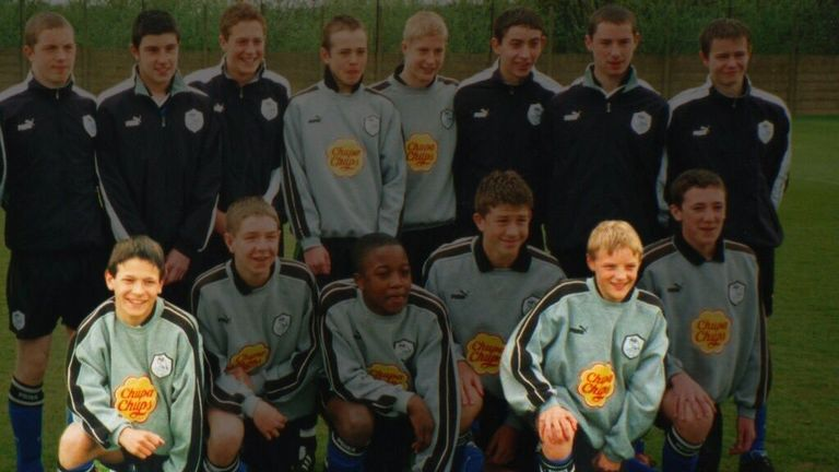 Care (left) and Jamie Vardy (right) as part of Sheffield Wednesday's academy (Credit: @dannycare)