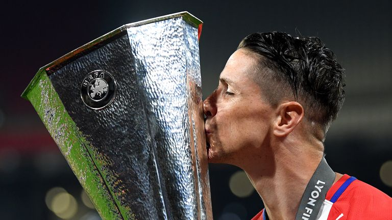The Europa League is the first trophy Fernando Torres has won with Atletico Madrid