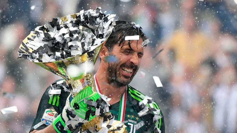 Buffon lifted a domestic treble in his final season at Juventus.