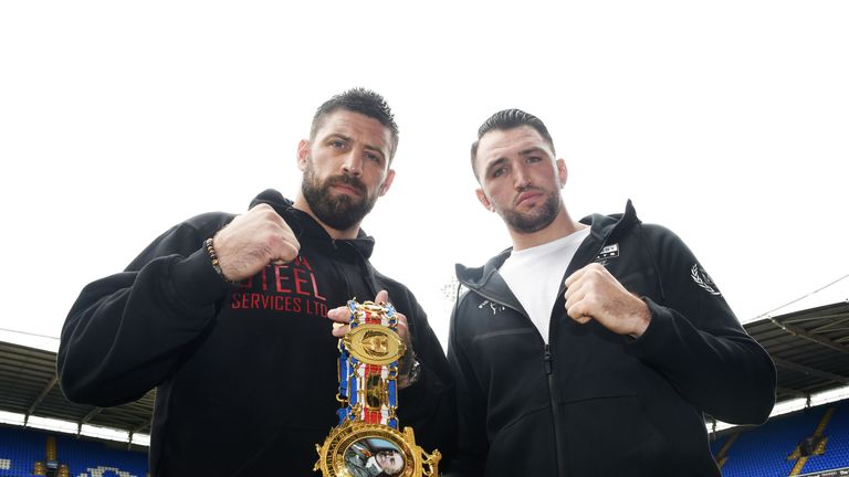 Hughie Fury (right) challenges British champion Sam Sexton on Saturday