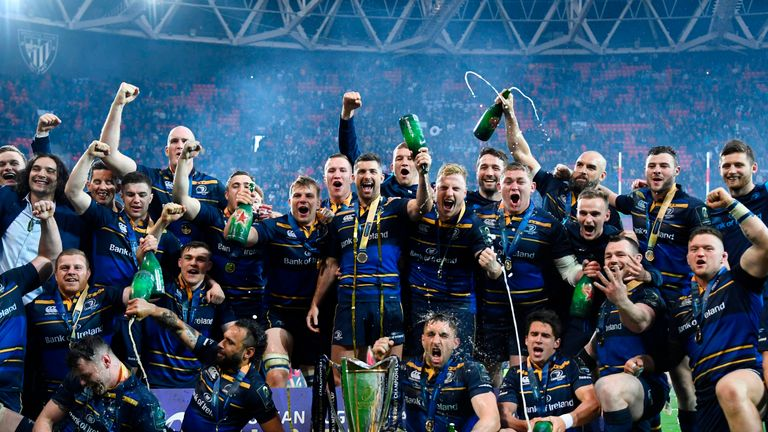 Leinster celebrating a fourth European Cup victory