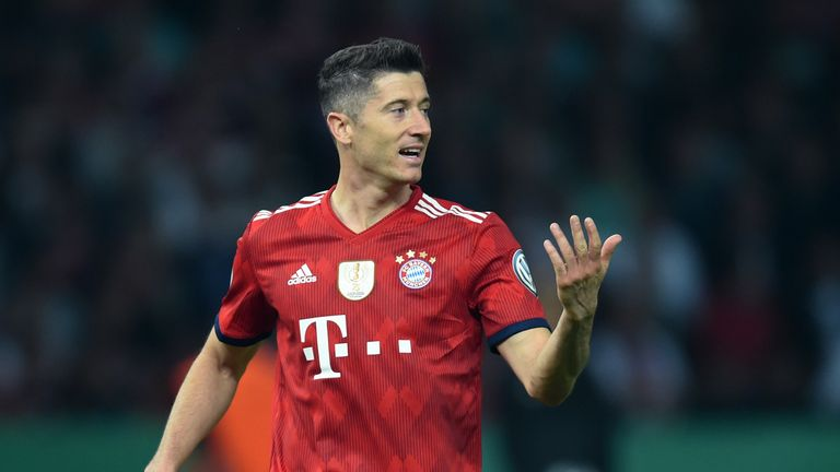 Bayern Munich striker Robert Lewandowski has been linked with a move to Chelsea and Manchester United