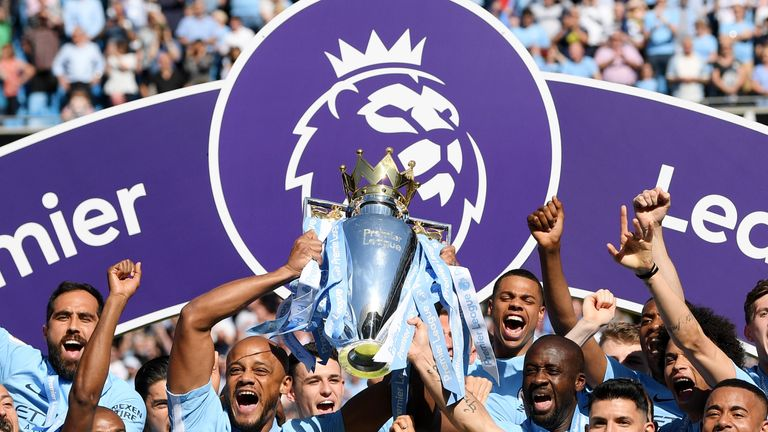 Image result for manchester city win title 2017-18