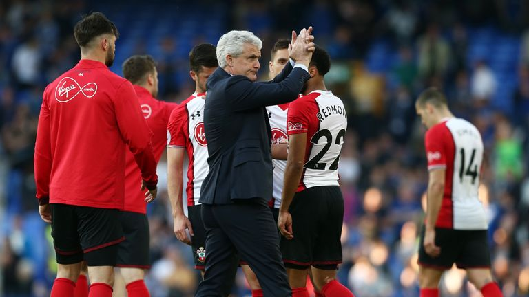 Hughes helped Southampton retain their Premier League status
