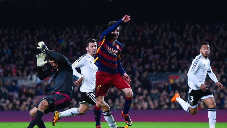 Mat Ryan was in goal the night Gary Neville's Valencia lost 7-0 to Barcelona in February 2016