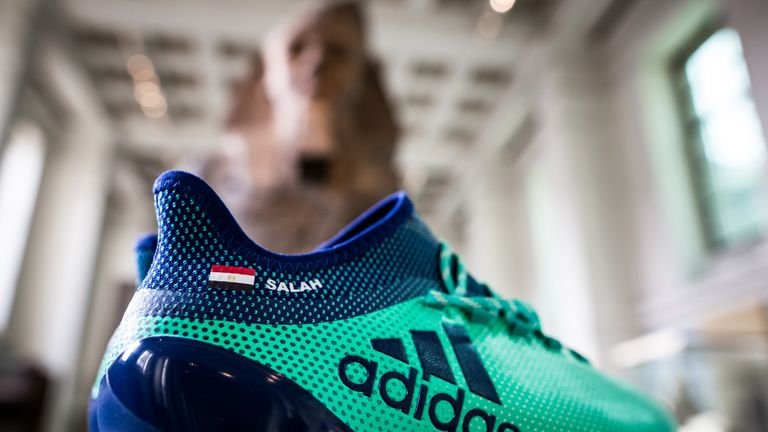 Mohamed Salah: Liverpool forward's boots become museum exhibit