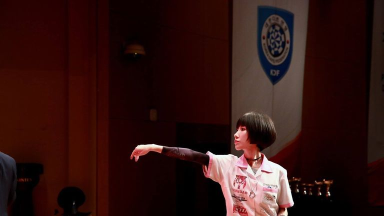 Momo Zhou could feature at the World Darts Championship (picture courtesy of PDC)