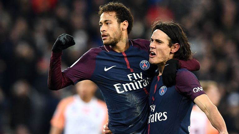 Neymar has been out with a foot injury since January, but his 19 league goals and Cavani's 27 have helped PSG secure the Ligue 1 title with ease