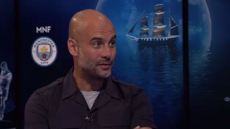 Pep Guardiola was on a Monday Night Football special