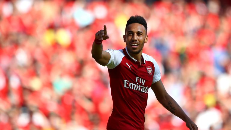Pierre-Emerick Aubameyang scored 10 goals in 12 appearances for Arsenal after his January move