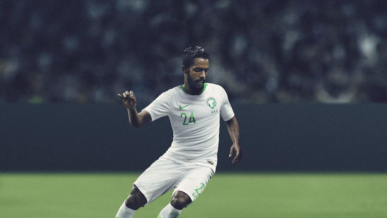 Saudi Arabia's home kit pays homage to the 1994 team, which reached the final 16 in the US
