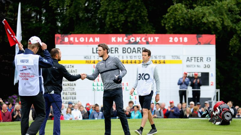 Thomas Pieters suffered a disappointing defeat to Max Kieffer
