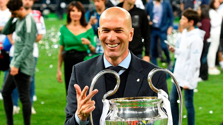 Zinedine Zidane has won three Champions League three times as a manager
