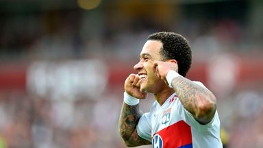 Memphis Depay scored a hat-trick for Lyon as they secured Champions League football on Saturday