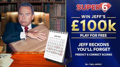 fifa live scores -                               Super 6 stat pack: £100k jackpot