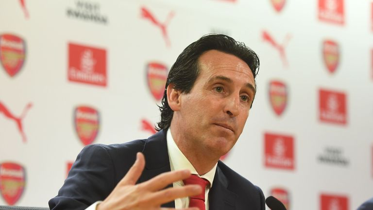 Unai Emery spoke to the media for the first time after his appointment as Arsenal head coach on Wednesday