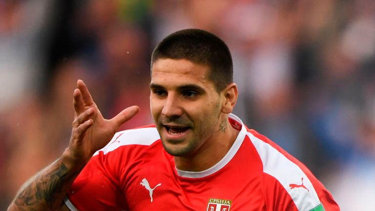 Aleksandar Mitrovic scored the opening goal for Serbia against Switzerland at the World Cup