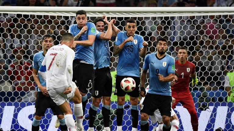 Ronaldo was frustrated by Uruguay on Saturday