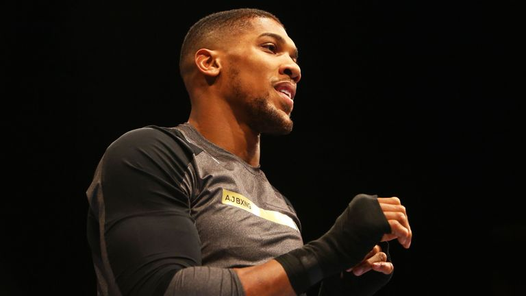 Anthony Joshua has started preparing for his next world title fight