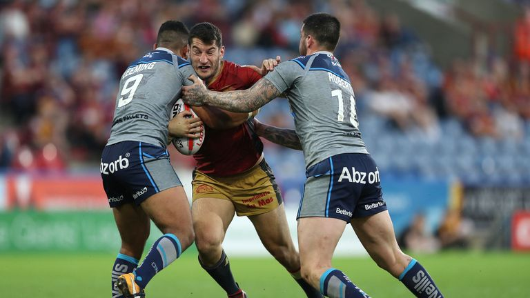 Catalans Dragons' Ben Garcia escaped with just a sin-binning for a dangerous-looking tackle on Huddersfield rival Aaron Murphy