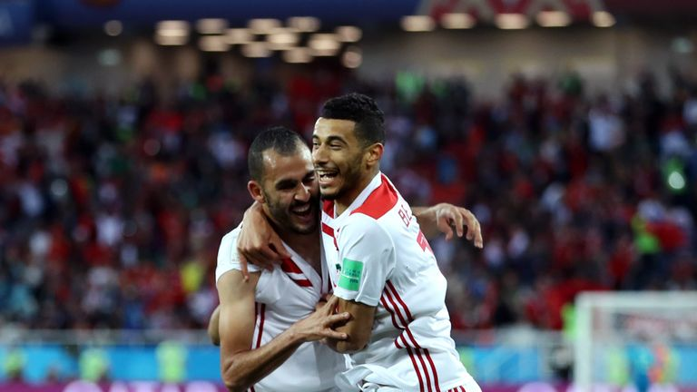 Morocco celebrate going in front