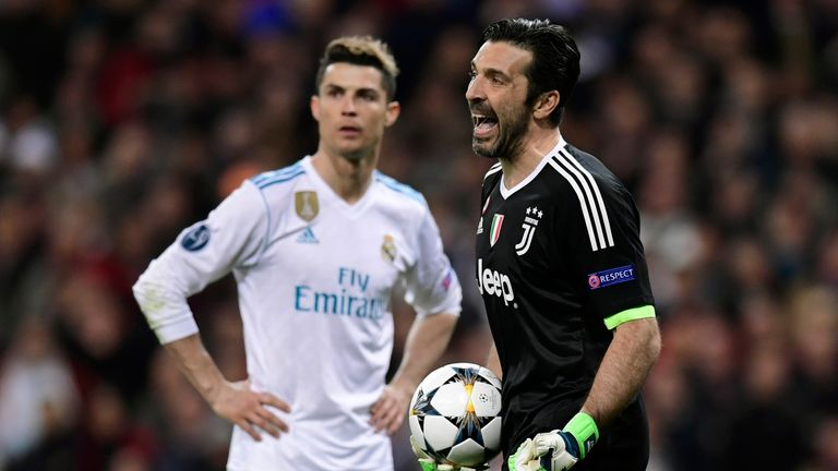 Gianluigi Buffon was sent off in his final Champions League game for Juventus - against Real Madrid
