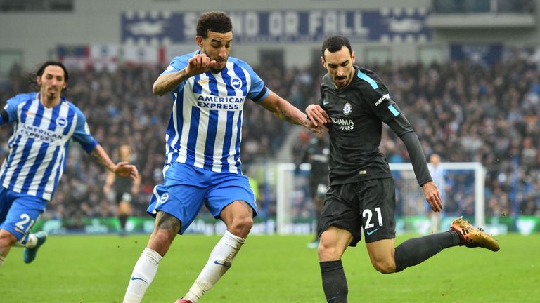 Connor Goldson in action for Brighton