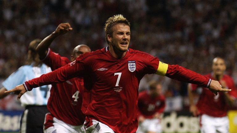 Beckham represented England at three World Cups