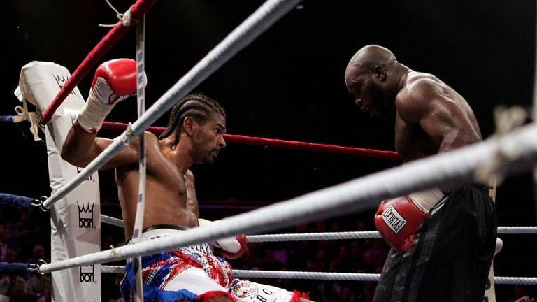 Haye took a knee before ripping world titles from Jean Marc Mormeck