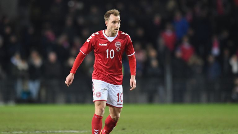 Christian Eriksen has scored 15 goals since Age Hareibe became Denmark manager in 2016