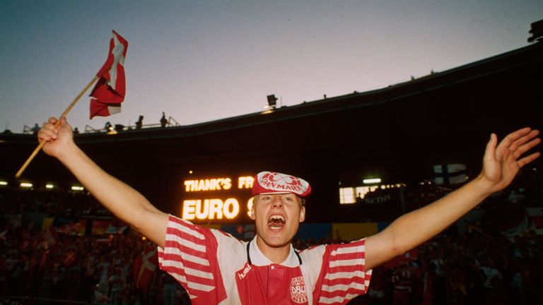 Denmark ended Euro 1992 as shock champions - despite only qualifying when Yugoslavia was disqualified