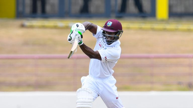 Devon Smith scored his first Test fifty after three years out of the West Indies Test side