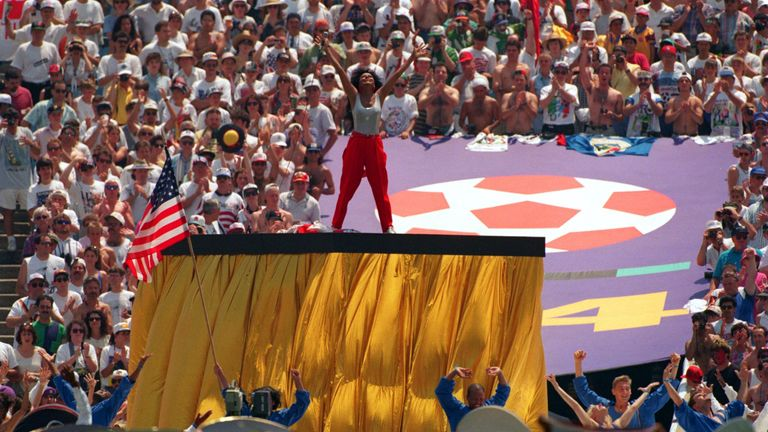 Diana Ross featured at the opening ceremony of the 1994 World Cup
